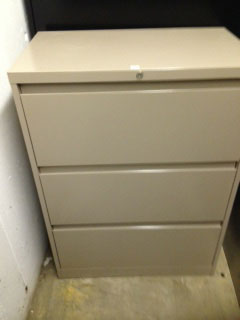 lateral 3 drawer file